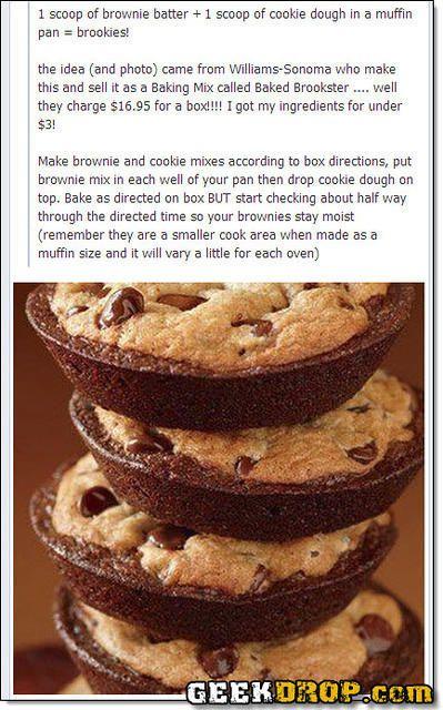 Brownies And Chocolate Chip Cookies Brookies In 2020 Brookies
