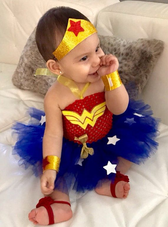 Wonder Woman Inspired Super Hero Tutu Costume (Wonder Baby) Wonder Girl & Wonder Baby Super Hero Tutu Costume (Baby Wonder Woman Inspired ...