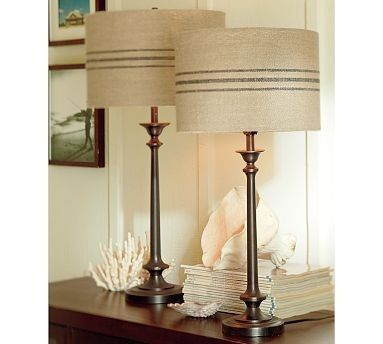 Make Your Own Pottery Barn Grain Sack Lamp Shades Decor Home Decor Buffet Lamps