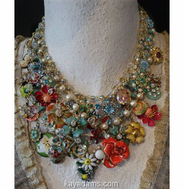 Another flower necklace by Kay Adams. I just love her aesthetic.