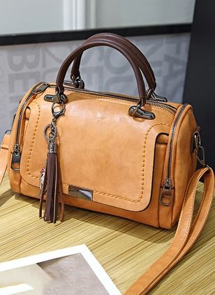 Shoulder Tote Zipper Double Handle Bags  - Floryda