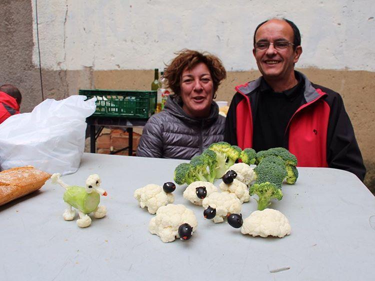 #Barakaldo Fiestas Beurko Bagatza. El arte de la cocina: ovejas y perro pastor vegetarianos