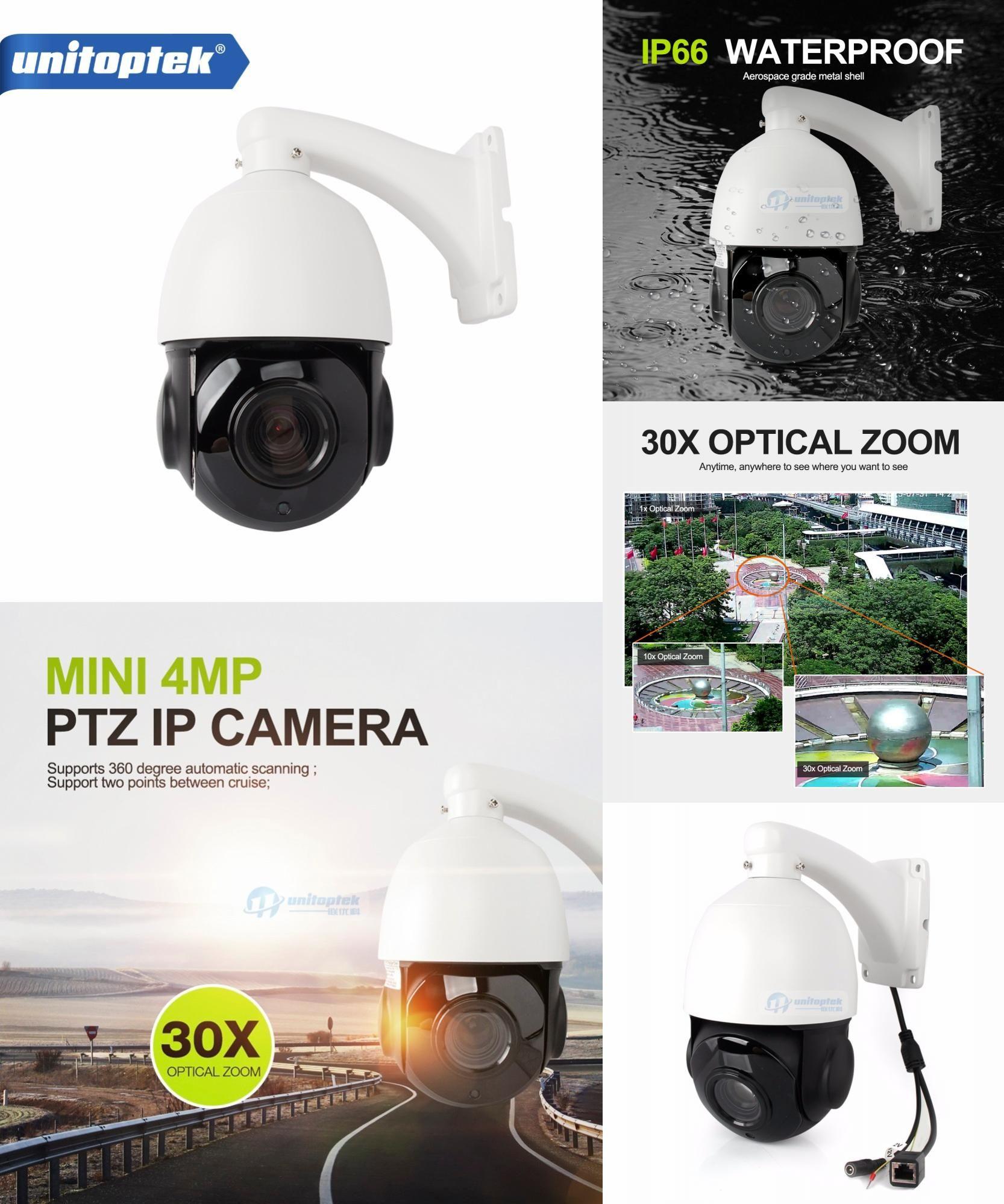 [Visit to Buy] 4 inch Mini Size 4MP IP PTZ camera Network Onvif Speed Dome 30X Optical Zoom PTZ IP Camera CCTV 50m IR Night Vision Distance  #Advertisement