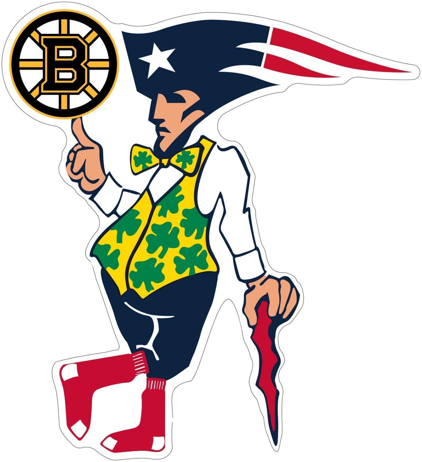 Boston Guy Sports Teams Logo Mash Up Vinyl Decal Sticker Celtics Red Sox Bruins Https Uxshops Com Buy Boston Gu Sports Team Logos Boston Sports Sports Decals [ 1600 x 1462 Pixel ]