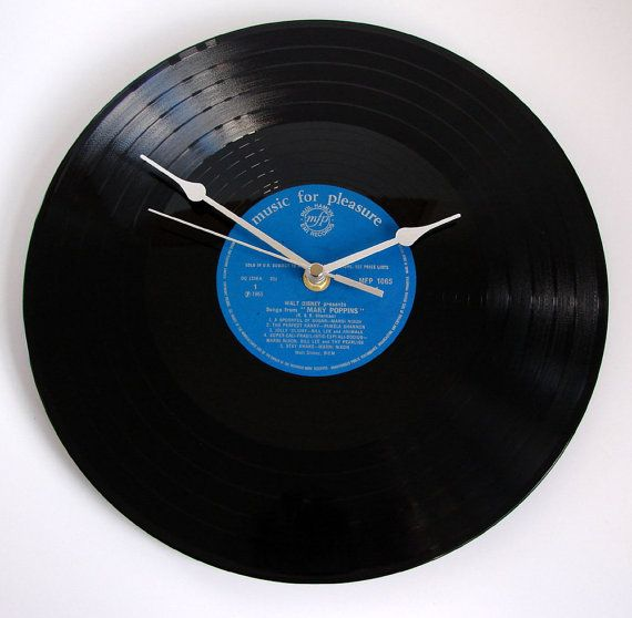 Mary Poppins Vinyl Record CLOCKThe Perfect by clockstockandbarrel, £19.99