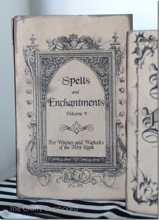 Spelling Book Cover Template ~ Spells and enchantments book free printables