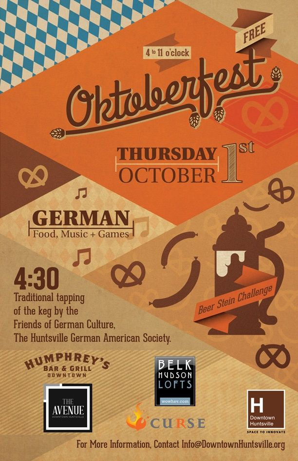 The 2nd Annual Downtown Oktoberfest Celebration is THIS Thursday! Come out and celebrate with us!