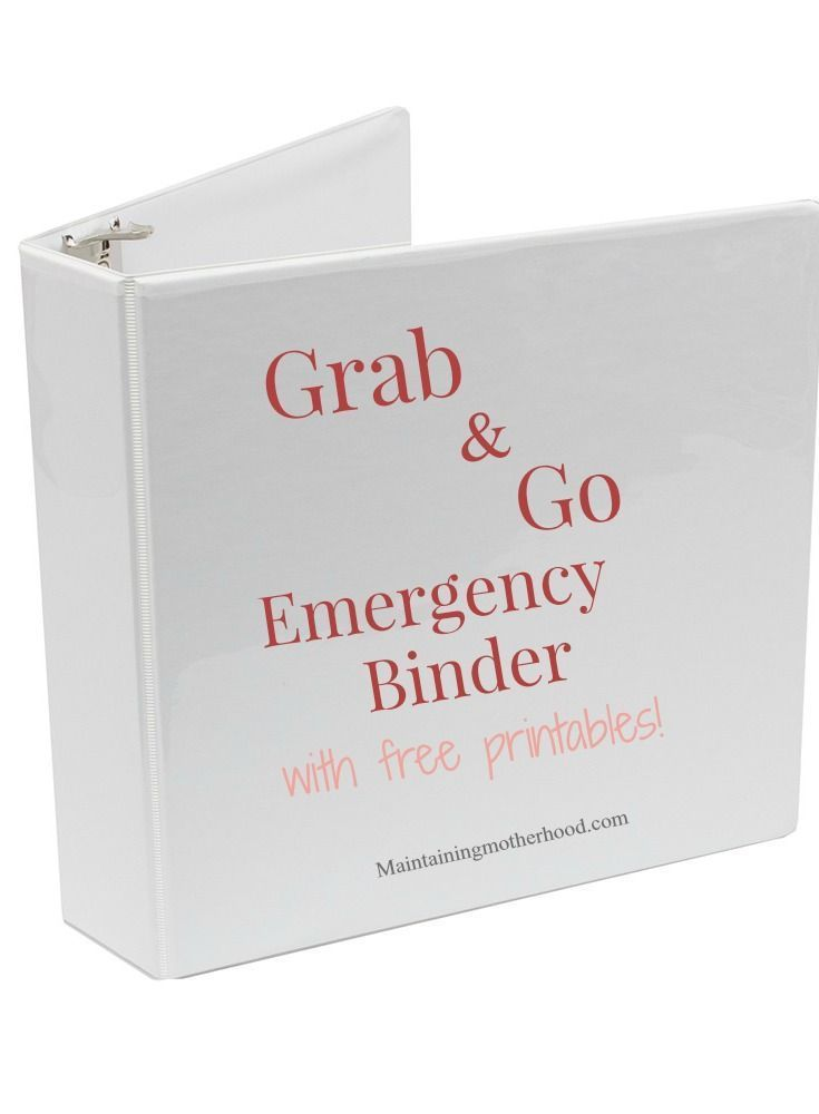 Grab and Go Emergency Binder #importantdocuments Do you have all your important documents in one place in case of an emergency? Use this simple checklist to create your own Grab and Go Emergency Binder. #importantdocuments