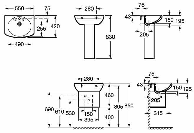 Lavabo Senso Compacto Medidas Jpg 658 452 Taza De Bano