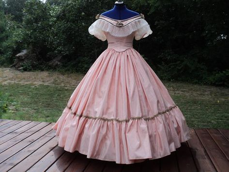 Custom Victorian Ballgown for Civil War Reenacting ~ Daisy #dressesfromthesouthernbelleera