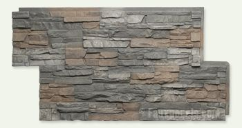 Regency Stacked Stone Espresso Panel W 48 7 8 H 24 5 8 2 Thick Stacked Stone Stacked Stone Panels Stone Panels