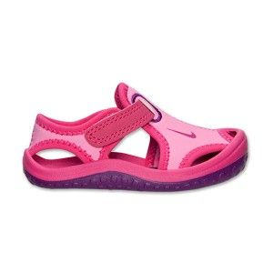Sandalias chanclas ni as nike sunray protect rosa y morado flip flop shoes or thongs by nike - Sandalias piscina nina ...