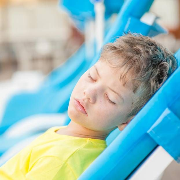 A sunstroke in children can occur quickly because the ...