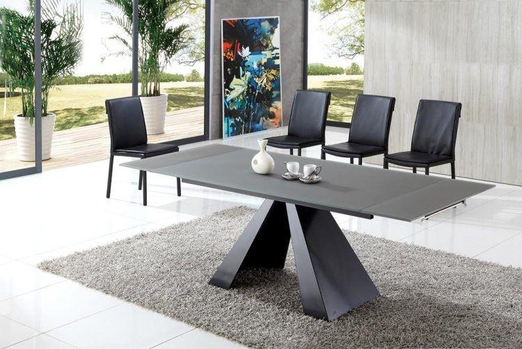 Table de salle à manger de design italien par Cattelan Italia - table de salle a manger grise