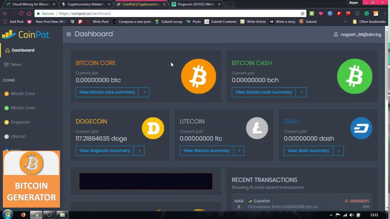 Mining Dogecoin With Genesis Mining ( With 1TH/s