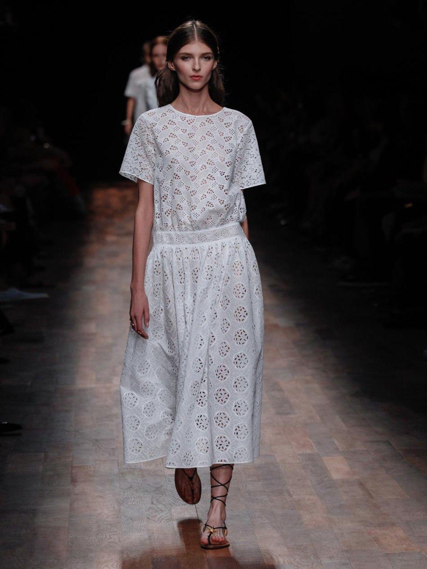 981e7e5ce6be Sangallo-lace midi dress