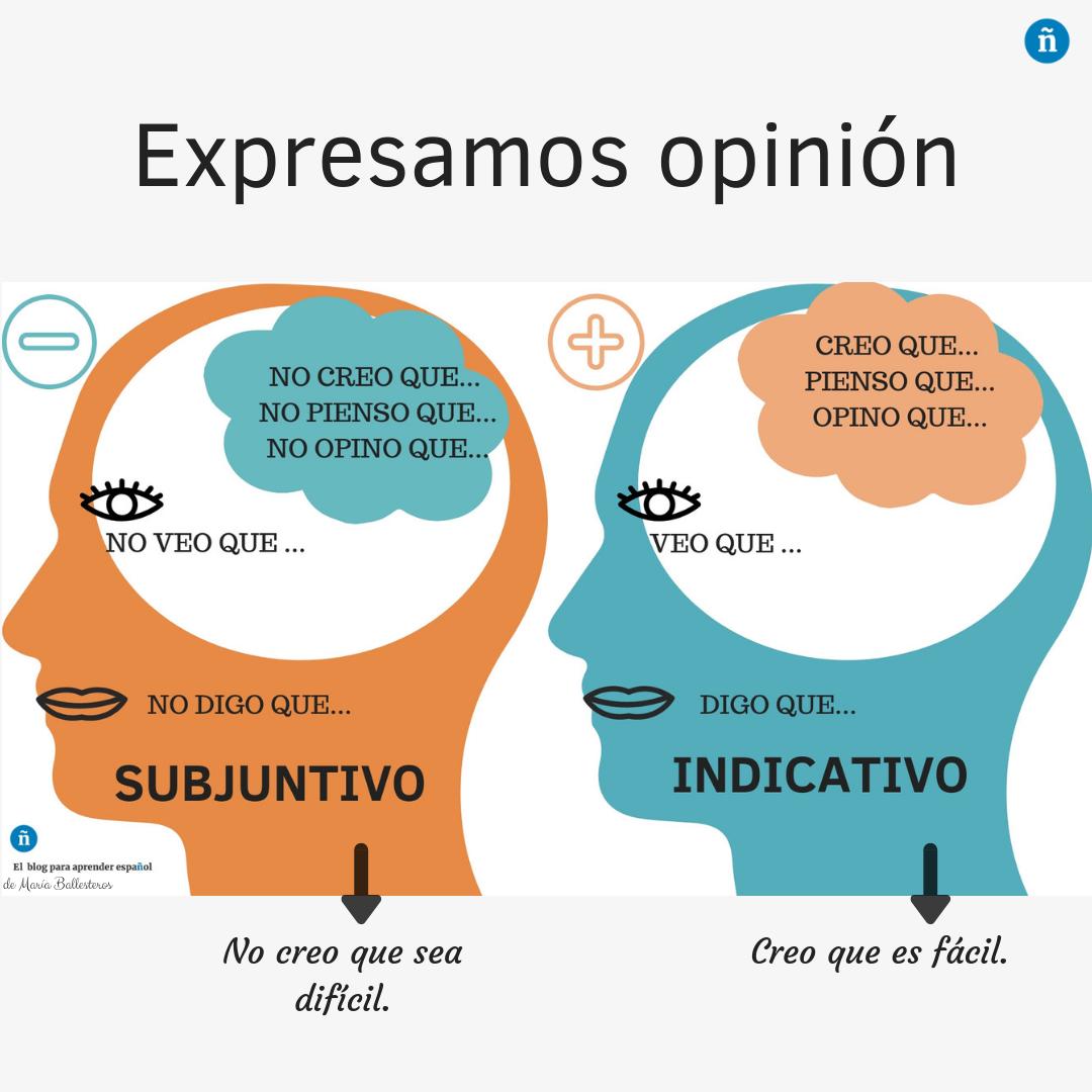 Expresar La Opinion En Espanol Indicativo O Subjuntivo