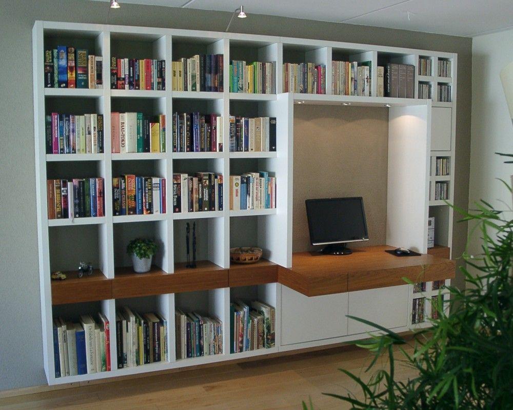 Uitgelezene Mdf vakkenkast   Built in bookcase, Home library, Living room wall EI-39