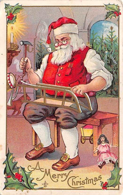 Lot of 11 Early Christmas Greetings Postcards Fantasy Santa Angels ...
