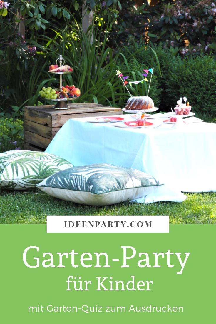 Gartenparty Fur Kinder Kinder Party Kindergeburtstag Deko Kinderparty