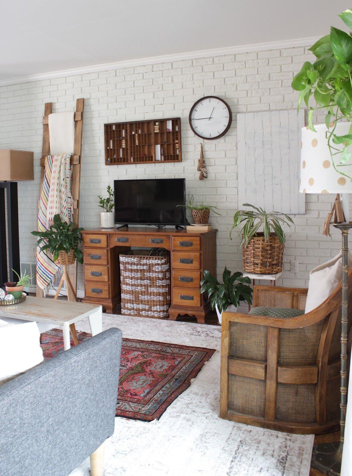 . Spring Home Tour   home   Spring home  Homemade house decorations