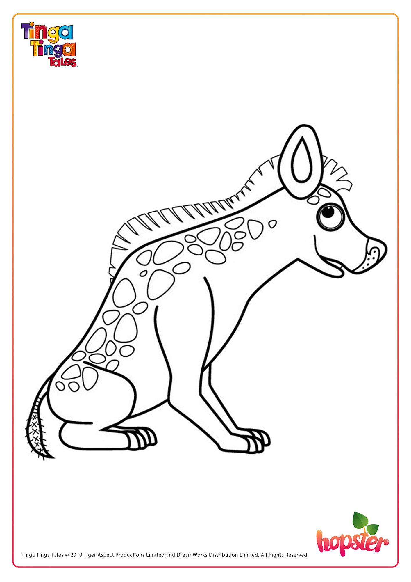 This Is Hyena From Tinga Tinga Tales Colour Him In Fun Printables For Kids Kids Tv Free Kids [ 2000 x 1414 Pixel ]