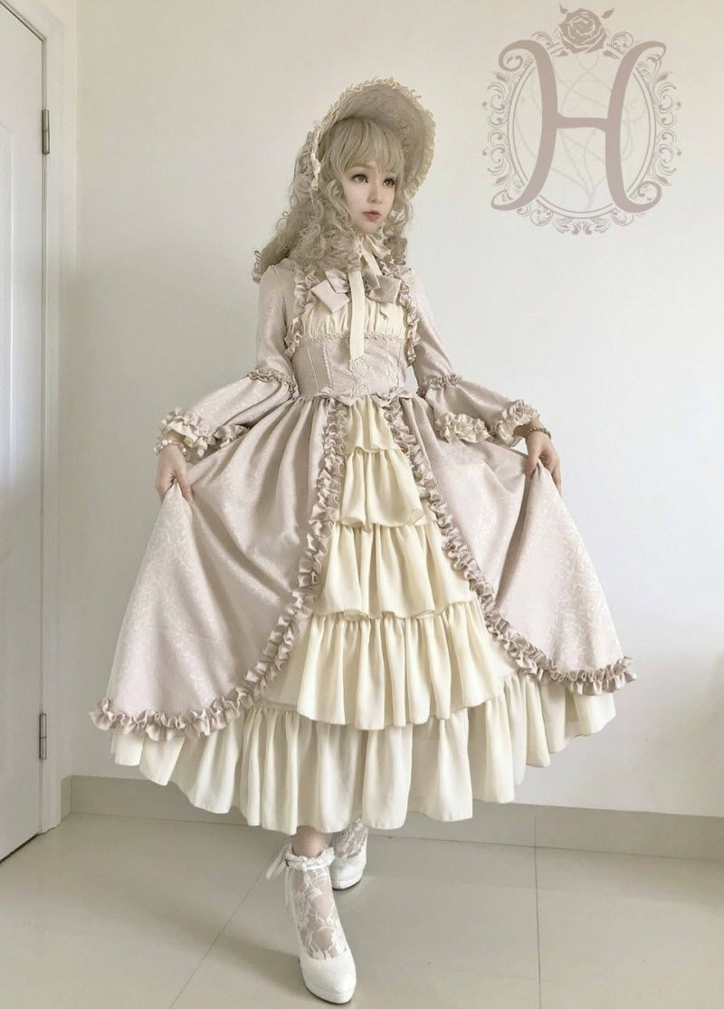 Henrietta -Antique Victorian Doll- Vintage Classic Lolita OP Dress ...