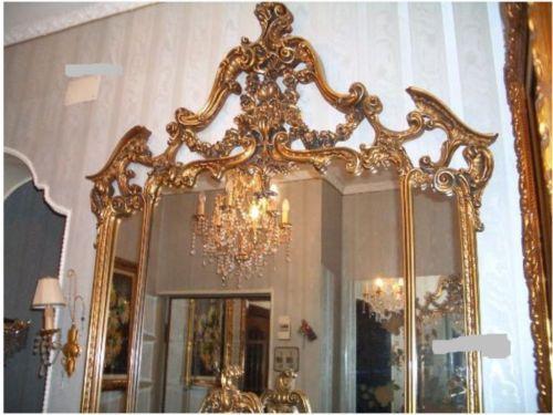 Schlafzimmer barock Konsole Spiegel Hartholz Vitrine Kommod in