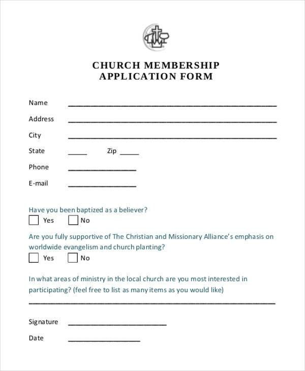 Sample Of Membership Form For An Organization In 2021 Membership Card Application Form Templates