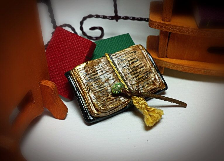 Sale Miniature Magic Spells Book Merlin S Secret Potions Magic Wand Fairy Garden Doll House Accessories Decorations