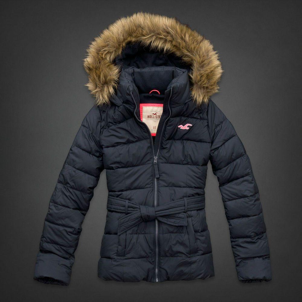 hollister black coat
