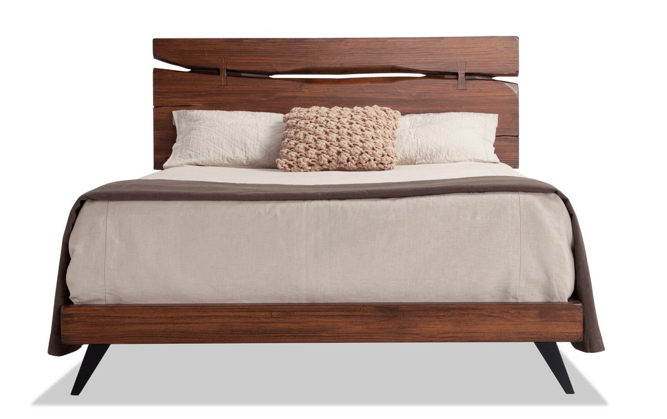 Canyon Queen Bed Bobs Furniture Rustic Platform Bed Headboards For Beds