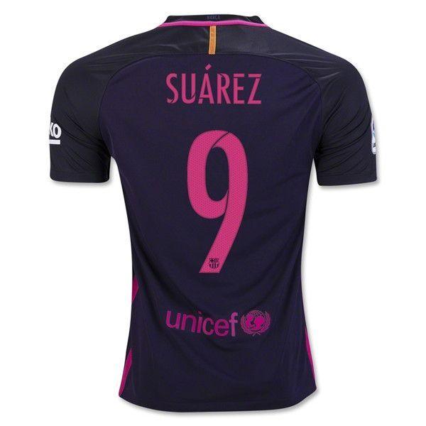 Barcelona 2016/17 Away Men Soccer Jersey SUAREZ #9