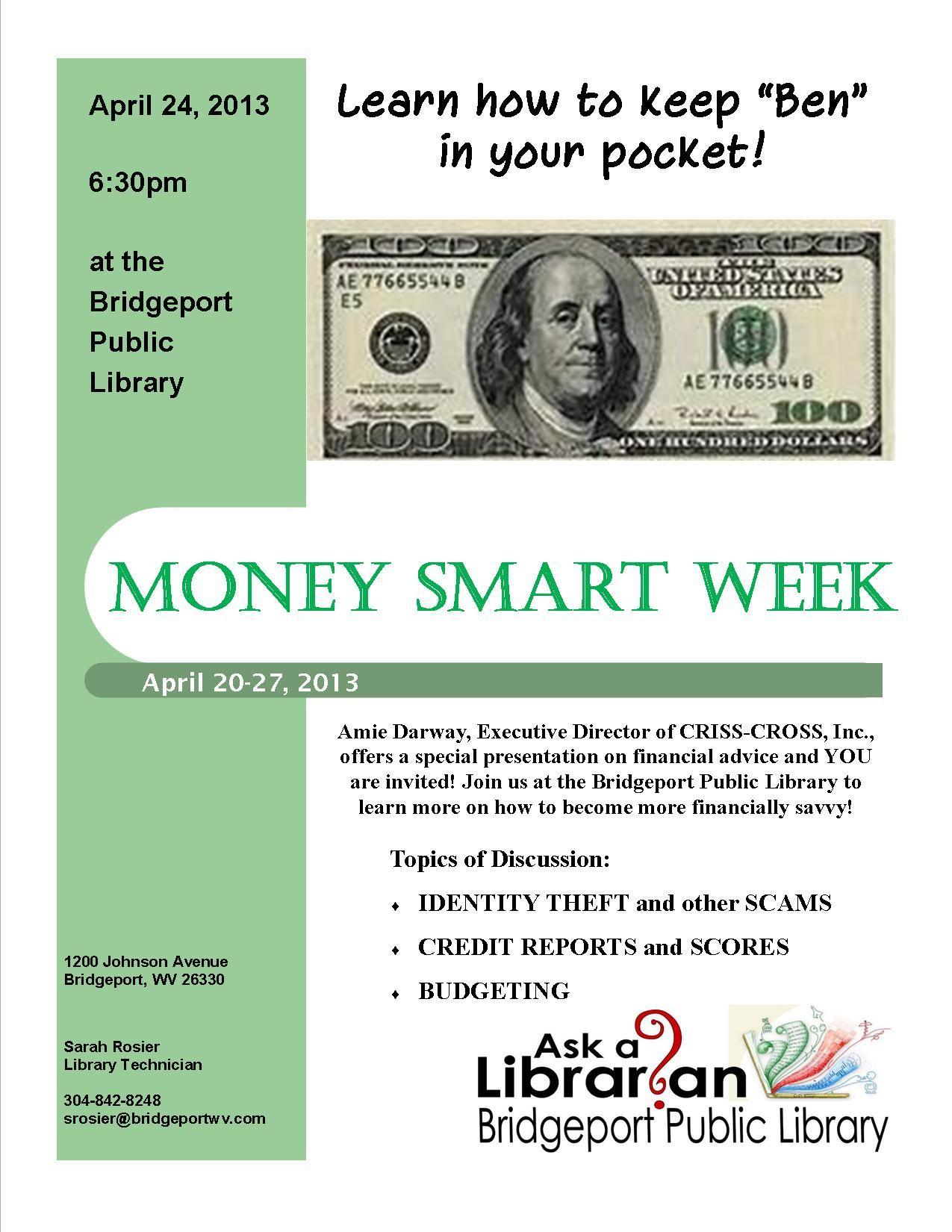 Money Smart Program April 24th 6 30