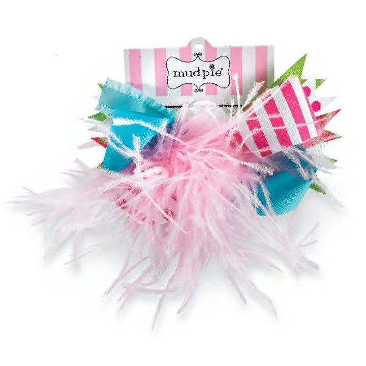 Lily Pad Ostrich Party Hairbow by Mud Pie