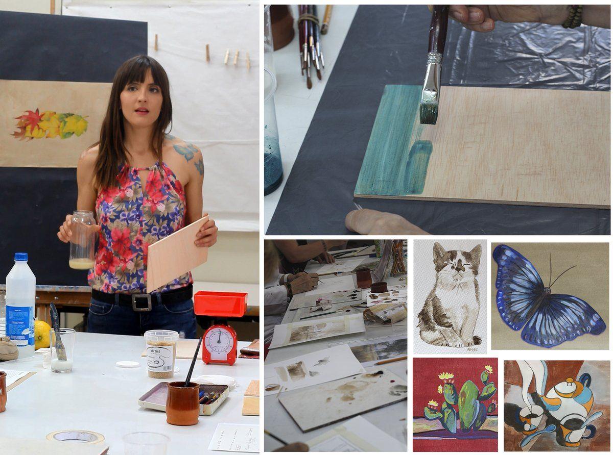 """arts plàstiques en Twitter: """"Aprenem el procès artesanal que hi ha darrere de les tècniques clàssiques de la pintura amb @NataliaMuscaria https://t.co/oFBYrgLPeO"""""""