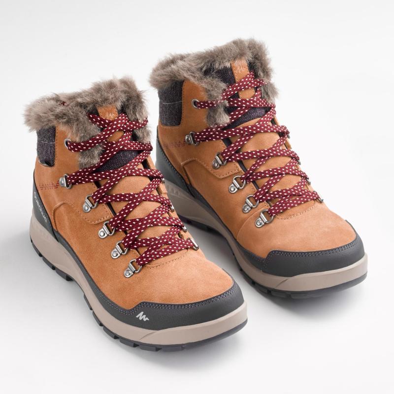 Buty Sh500 X Warm Mid Quechua Turystyka Turystyka Trekking Decathlon Hiking Women Boots Warm Boots