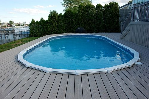 Timbertech Pool Deck In Ground Pools Above Ground Pool Decks
