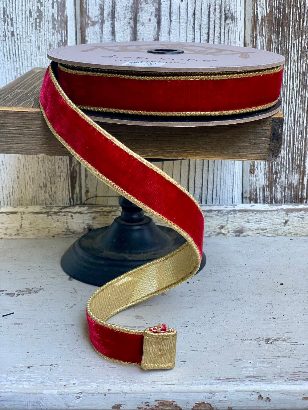 Designer ribbon Ribbon luxury ribbon, Christmas ribbon 2.5 ribbon Farrisilk ribbon velvet ribbon wreath supplies Ribbon for wreaths
