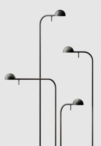 Pin Lamp Iwasaki Design Floor Lampt That Looks Like A Lamp Post Floor Lamp Lighting Minimalist Lighting Vibia Lighting