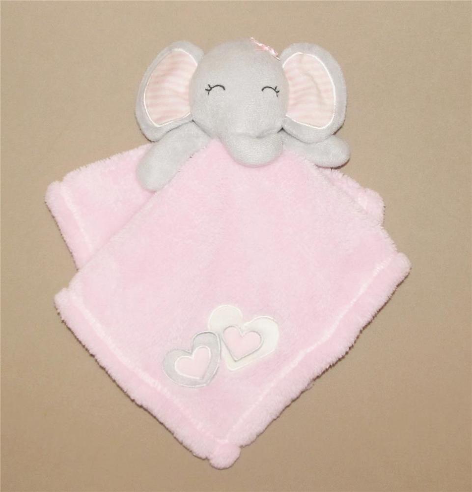 NWT Blankets /& Beyond White Bunny Rabbit Pink Minky Dot Security Nunu Lovey Toy