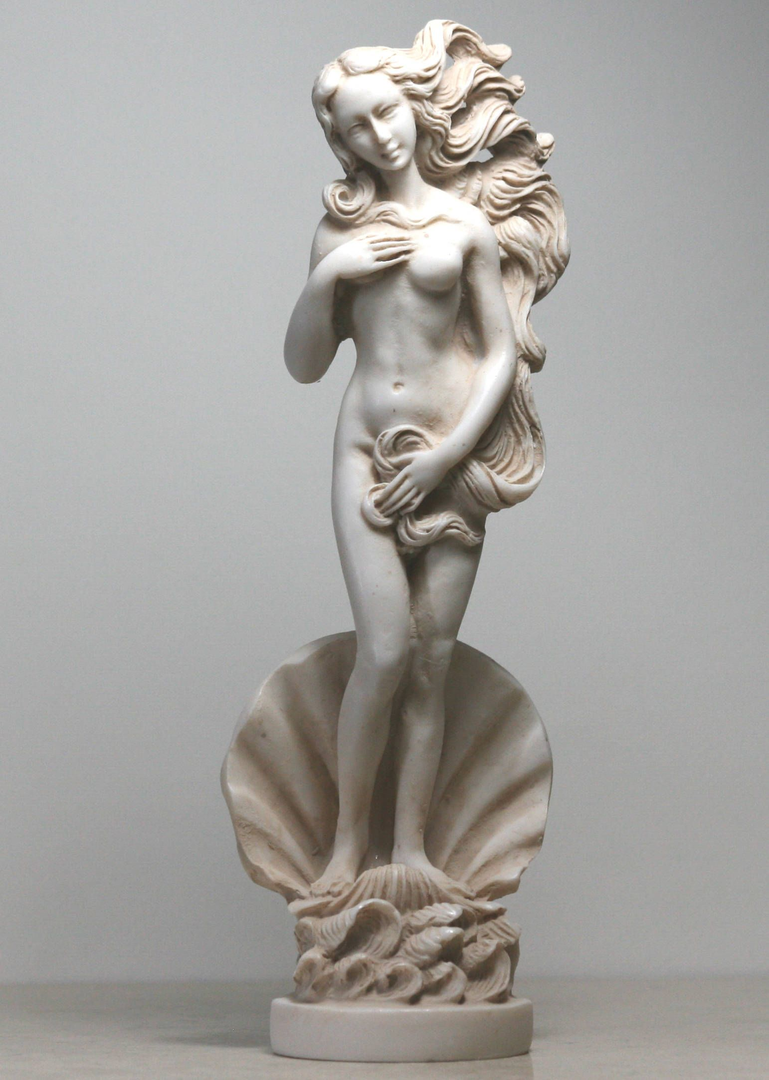 Birth of Goddess APHRODITE Venus Nude Female Statue Sculpture Figure Handmade 8in - 20,5 cm **Free Shipping & Free Tracking Number**