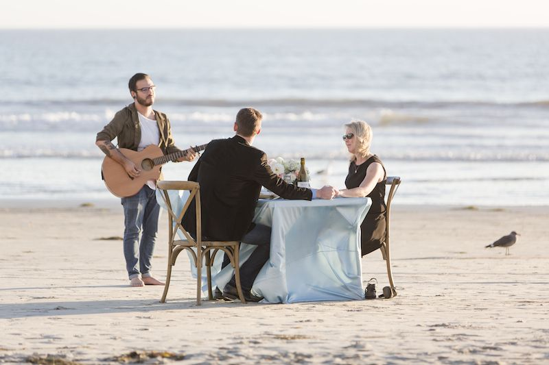 Private Dinner On The Beach Marriage Proposal In San Diego