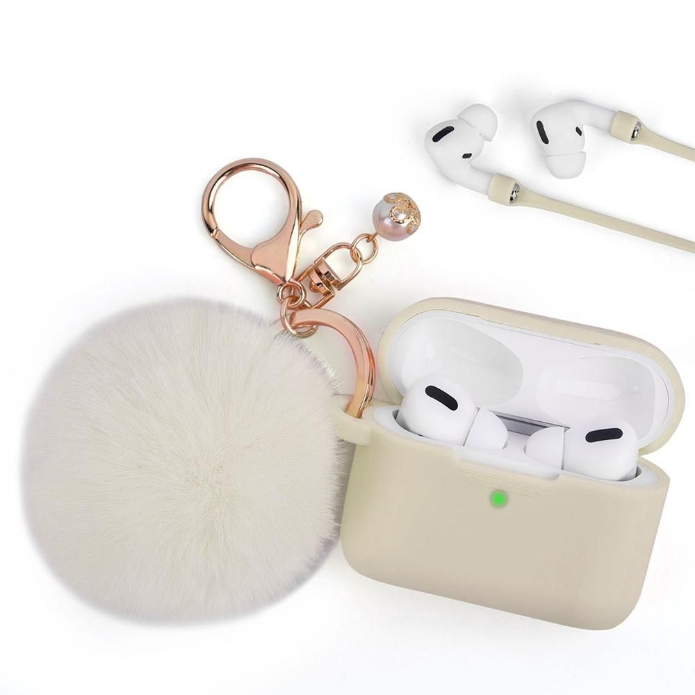 Almond Oil Keychain Case For Airpods Pro In 2021 Pink Headphones Airpods Pro Case Cover