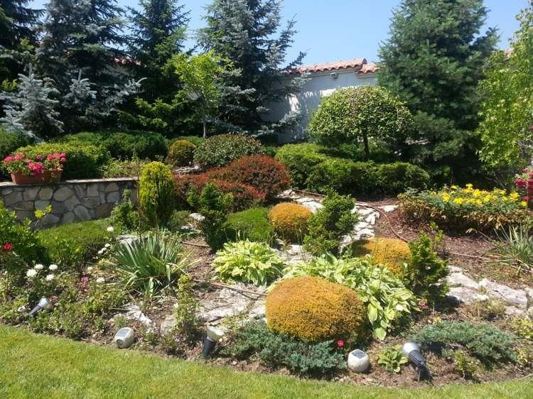 Gestalten Sie den Steingarten auch mit Büschen Jardineria - ideen gestaltung steingarten