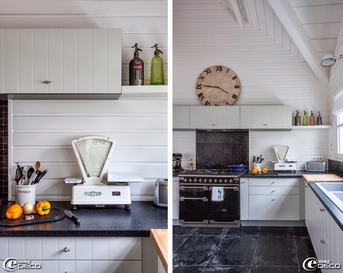 ancienne balance 39 testut 39 chin e dans une cuisine sur mesure 39 schmidt 39 piano de cuisson mod le. Black Bedroom Furniture Sets. Home Design Ideas