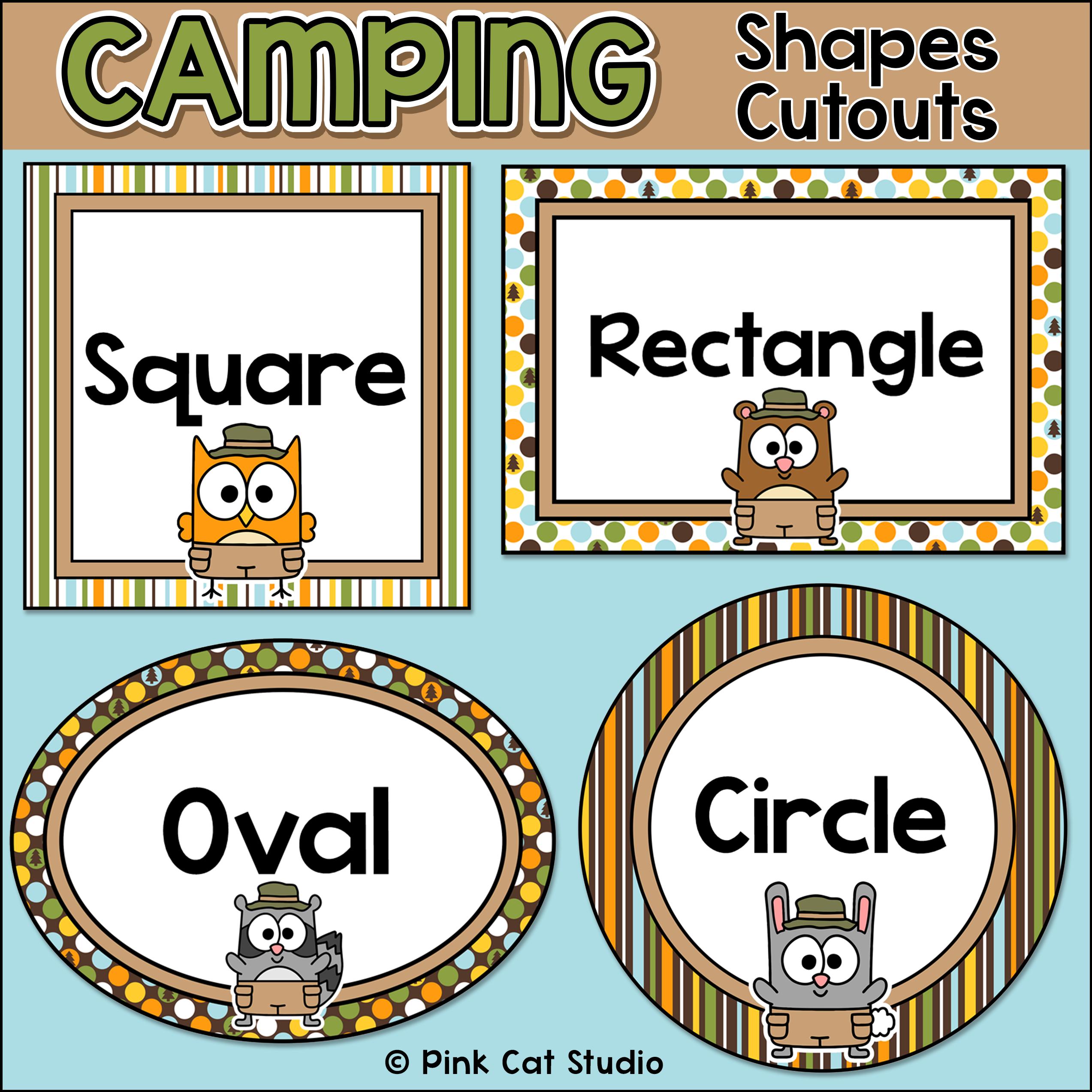 Camping Theme Shapes Cutouts