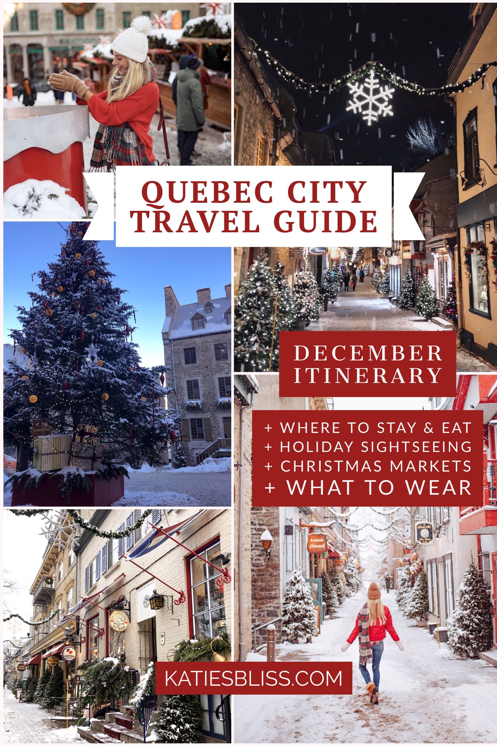 Quebec City December Travel Guide Katie S Bliss December Travel Quebec City Christmas Quebec City