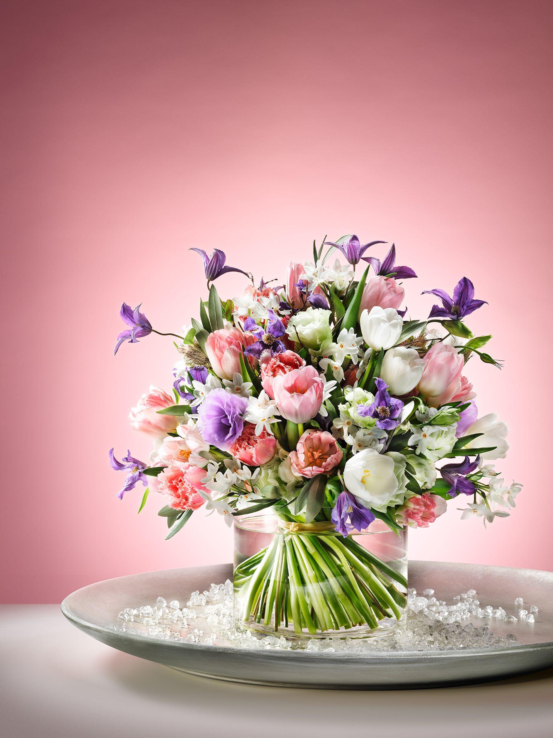 Lieblingswerkstuck Januar Tulpenstrauss Blumenarrangements Blumen Blumenstrauss