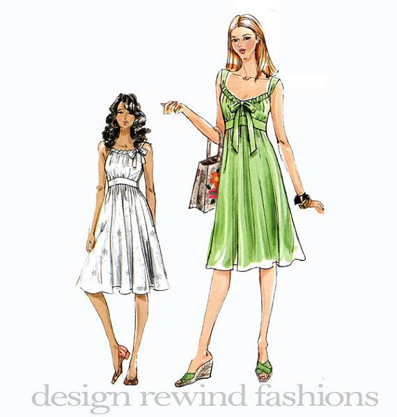 Vogue dress pattern empire waist fit flare dress bow gathered vogue dress pattern empire waist fit flare dress bow gathered bodice very easy vogue 8380 uncut womens sewing patterns bust 34 36 38 40 ccuart Choice Image